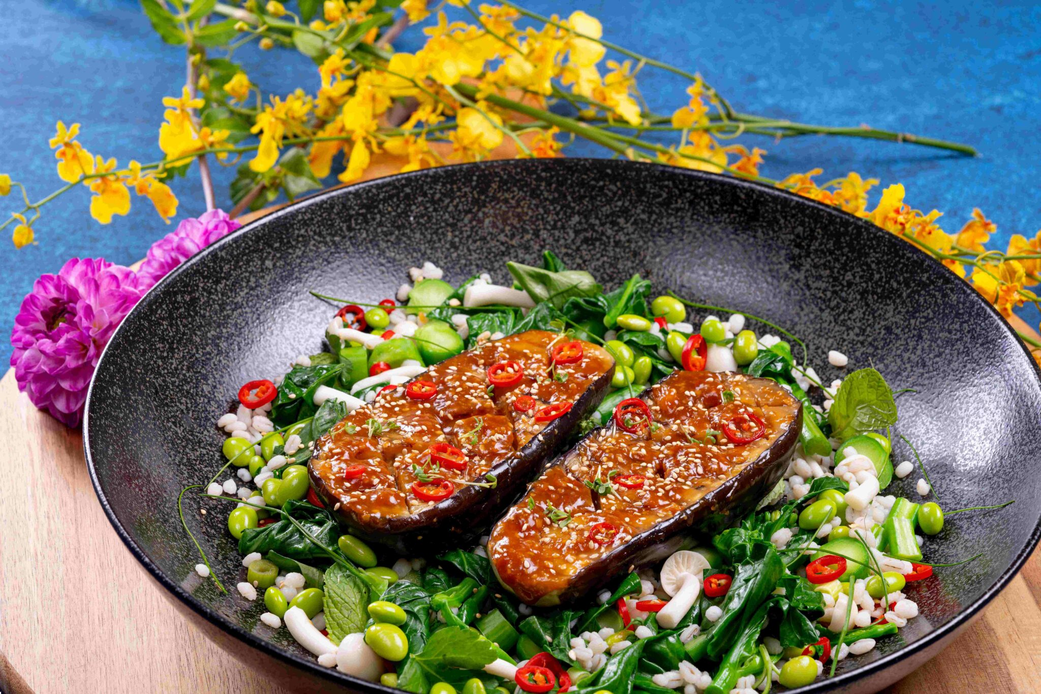 Gestoomde miso-aubergine recept Amazing Oriental