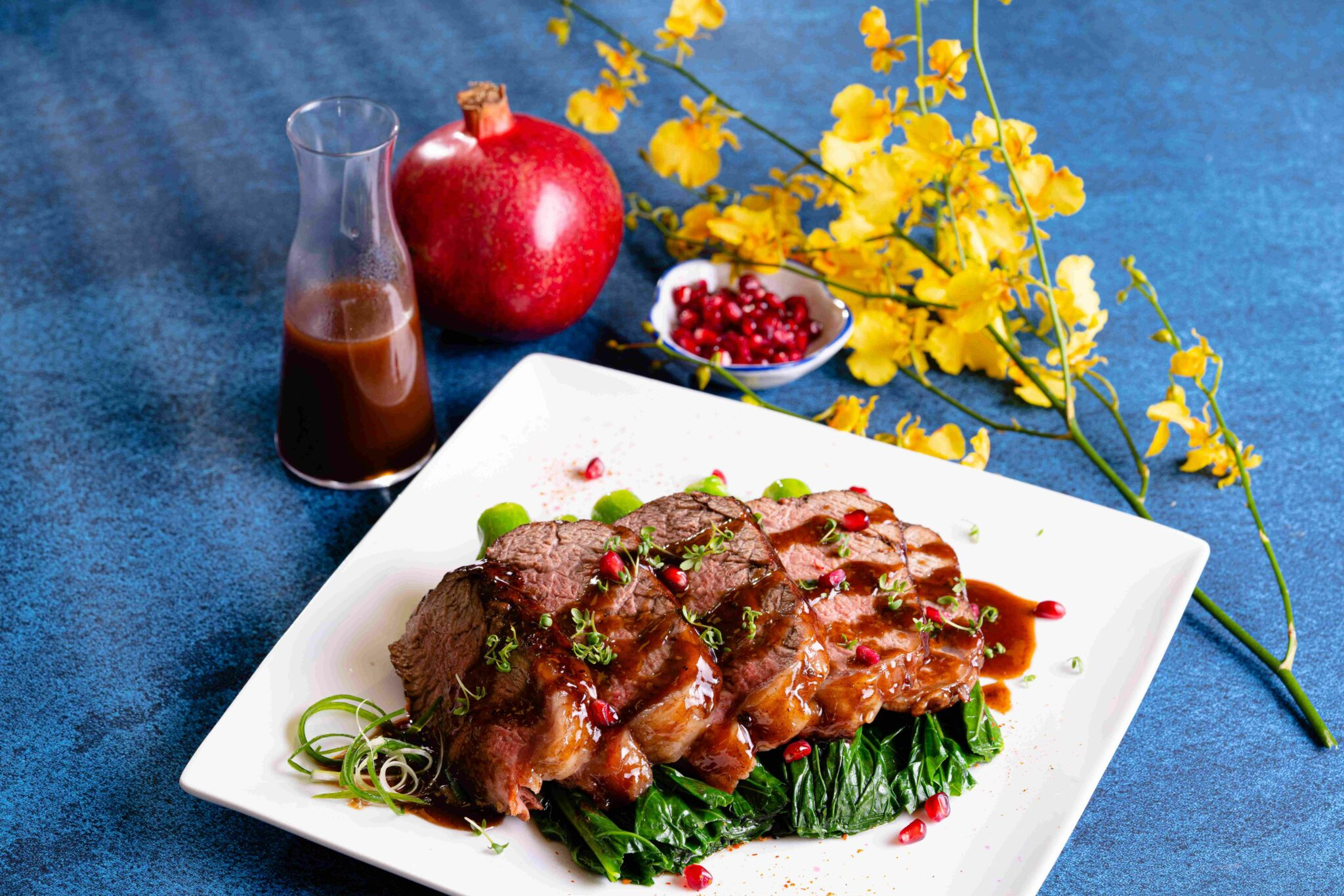 Ribeye met fruitige saus recept Amazing Oriental